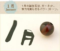 1月誕生石へ