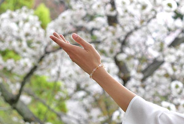 「心の目覚め」ローズクォーツ・シトリンブレスレット(相合い~相生6ミリ~)のメインフラワーイメージ