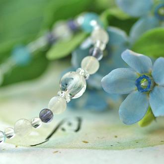 「水無月」6月の誕生石ブルームーンストーンブレスレット(こよみ月~花かずら6ミリ~)のサブフラワーイメージ