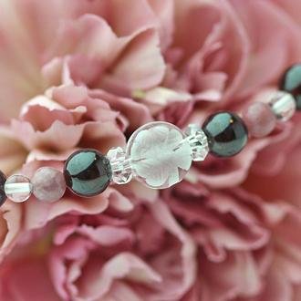 「睦月」1月の誕生石ガーネットブレスレット(こよみ月~花かずら6ミリ~)のサブフラワーイメージ