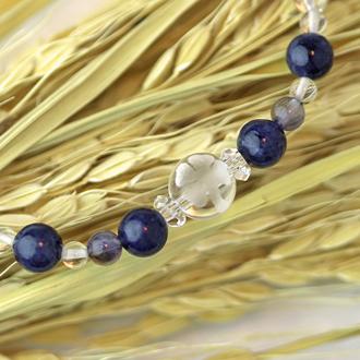 「長月」9月の誕生石サファイアブレスレット(こよみ月~花かずら6ミリ~)のサブフラワーイメージ