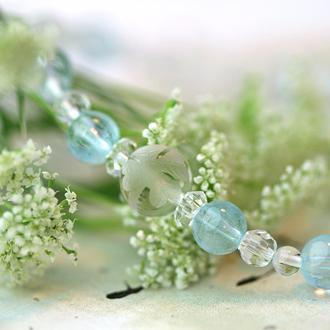 「霜月」11月の誕生石ブルートパーズブレスレット(こよみ月~花かずら6ミリ~)のサブフラワーイメージ