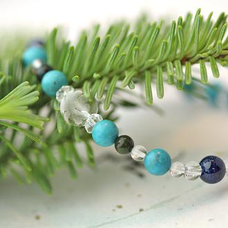 「師走」12月の誕生石ターコイズブレスレット(こよみ月~花かずら6ミリ~)のサブフラワーイメージ