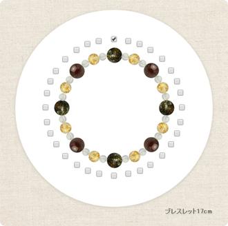 「松竹梅」グリーンガーネットブレスレット(こよみ月~標8ミリ~)のサブフラワーイメージ