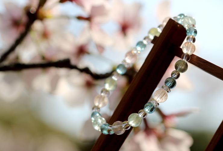 「門出2021」~桜の春~ミックスベリルブレスレットのイメージ画像10