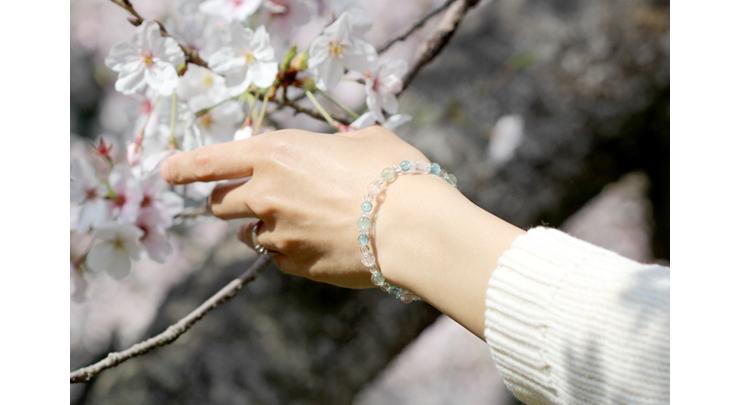 「門出2021」~桜の春~ミックスベリルブレスレットのイメージ画像2