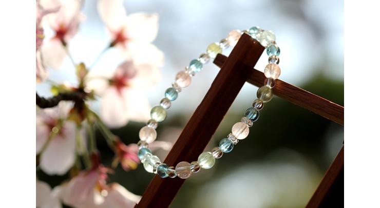 「門出2021」~桜の春~ミックスベリルブレスレットのイメージ画像6