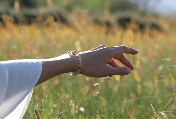「故郷」高品質ガーデンルチルクォーツブレスレットのイメージ画像2