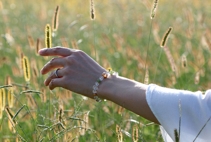 「故郷」高品質ガーデンルチルクォーツブレスレットのイメージ画像5