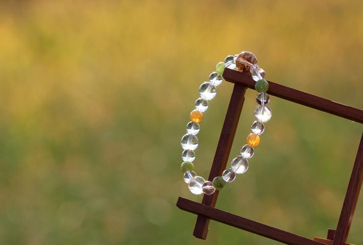 「故郷」高品質ガーデンルチルクォーツブレスレットのイメージ画像8