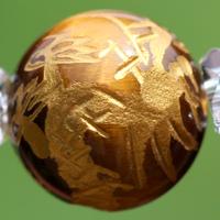 金の龍彫りタイガーアイのサンプル画像