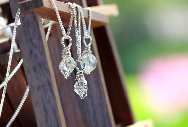 言祝ぎ~ことほぎ~一点もの高品質ハーキマーダイヤモンドネックレスのイメージ画像10