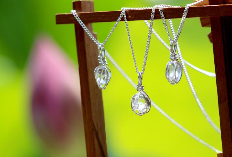 言祝ぎ~ことほぎ~一点もの高品質ハーキマーダイヤモンドネックレスのイメージ画像11