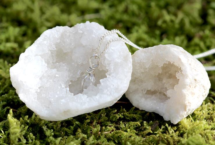言祝ぎ~ことほぎ~一点もの高品質ハーキマーダイヤモンドネックレスのイメージ画像2