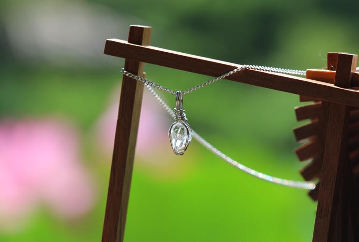言祝ぎ~ことほぎ~一点もの高品質ハーキマーダイヤモンドネックレスのイメージ画像4