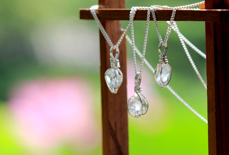 言祝ぎ~ことほぎ~一点もの高品質ハーキマーダイヤモンドネックレスのイメージ画像5