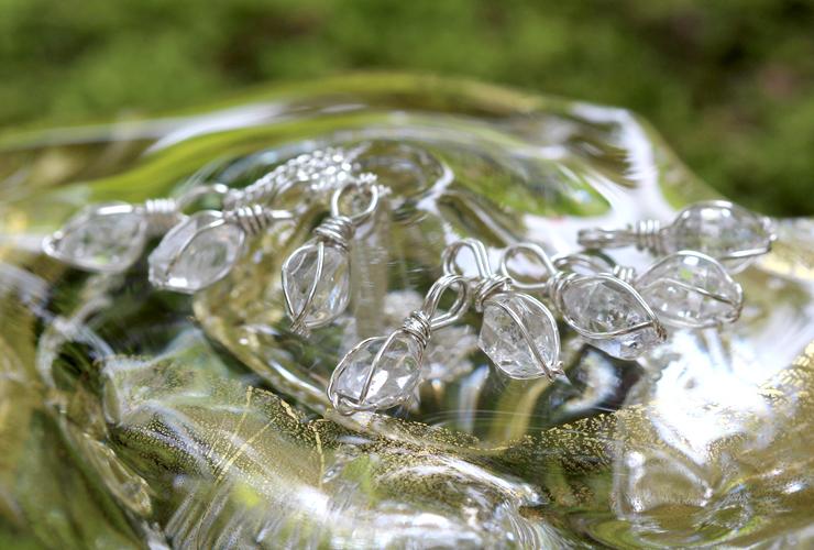 言祝ぎ~ことほぎ~一点もの高品質ハーキマーダイヤモンドネックレスのイメージ画像6