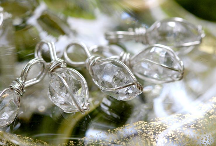 言祝ぎ~ことほぎ~一点もの高品質ハーキマーダイヤモンドネックレスのイメージ画像7
