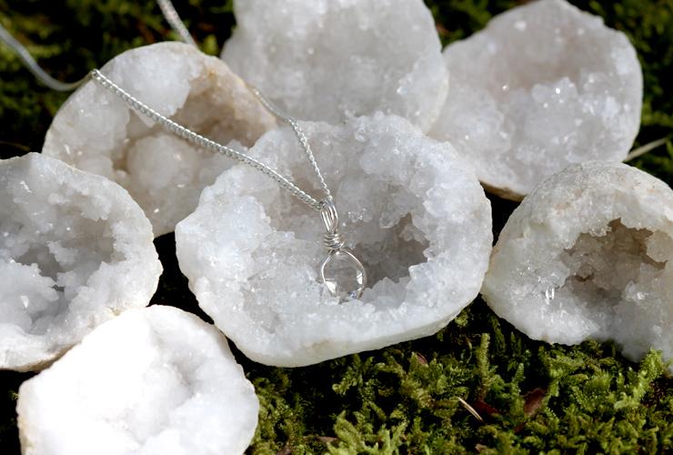 言祝ぎ~ことほぎ~一点もの高品質ハーキマーダイヤモンドネックレスのイメージ画像9