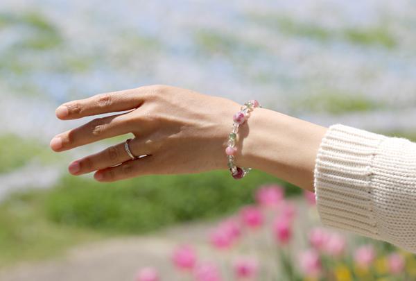 「母の日~ありがとうの花束~」マトリクス・ピンクトルマリンブレスレットのイメージ画像2