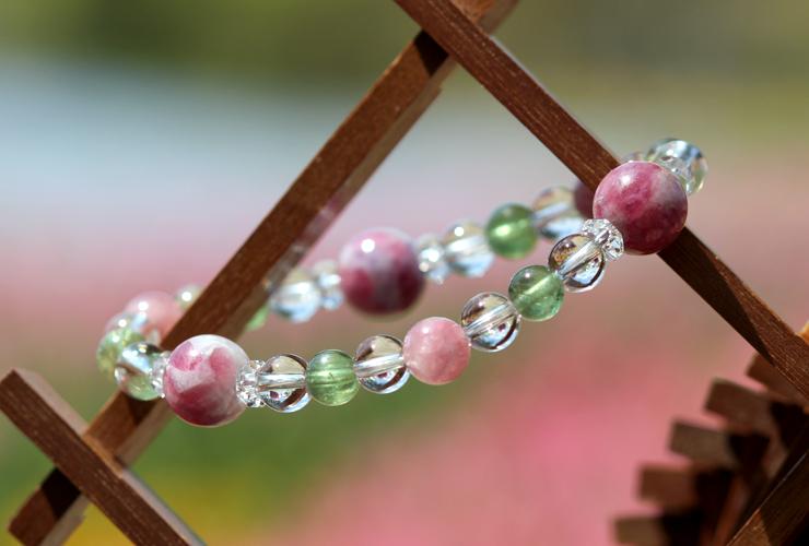 「母の日~ありがとうの花束~」マトリクス・ピンクトルマリンブレスレットのイメージ画像5
