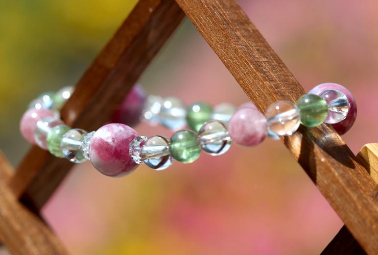 「母の日~ありがとうの花束~」マトリクス・ピンクトルマリンブレスレットのイメージ画像7