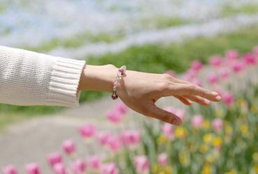 「母の日~ありがとうの花束~」マトリクス・ピンクトルマリンブレスレットのイメージ画像8