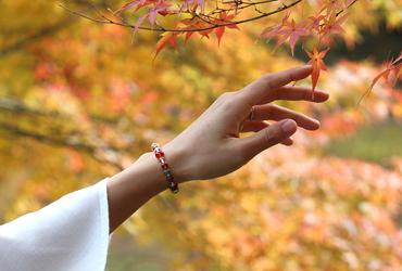 「秋津」高品質オレンジガーネットブレスレット(御あつらえ~オレンジガーネット~)のイメージ画像10