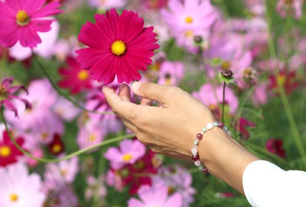 「秋桜」最高品質ルビーブレスレット(御あつらえ~ルビー~)のイメージ画像2
