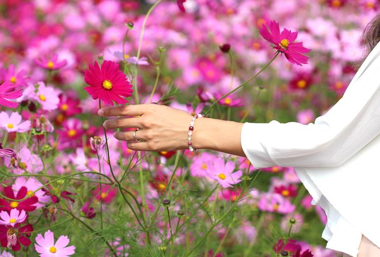 「秋桜」最高品質ルビーブレスレット(御あつらえ~ルビー~)のイメージ画像9