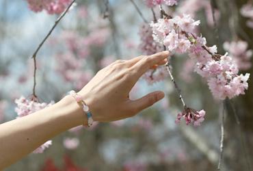 「佐保姫」最高級品質ローズクォーツ・ブルーカルサイトブレスレット(御あつらえ~ローズクォーツ~)のイメージ画像7