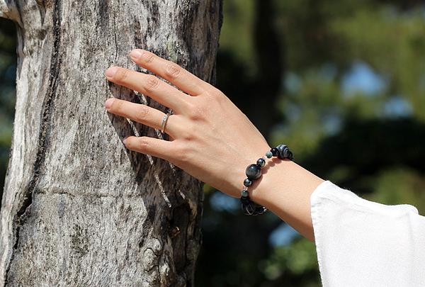 「鷲の眼」最高級品質イーグルアイ・天眼石ブレスレット(御あつらえ~イーグルアイ~)のイメージ画像2