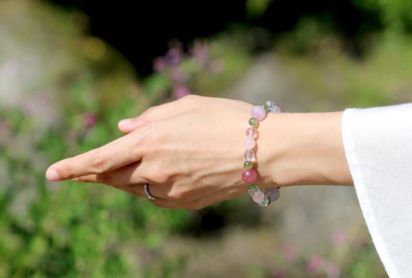 「愛の灯」高品質ピンクトルマリンブレスレットのイメージ画像2