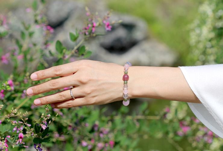 「愛の灯」高品質ピンクトルマリンブレスレットのイメージ画像6