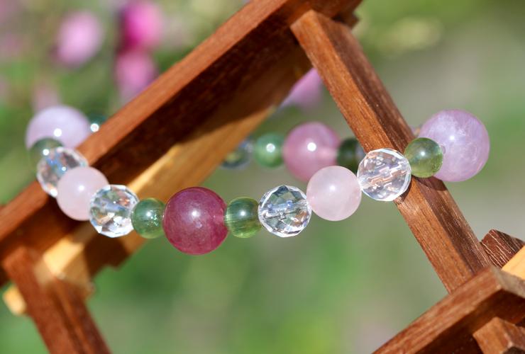 「愛の灯」高品質ピンクトルマリンブレスレットのイメージ画像7