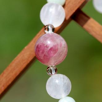 「玉」高品質ピンクトルマリンシリカブレスレットのイメージ画像4
