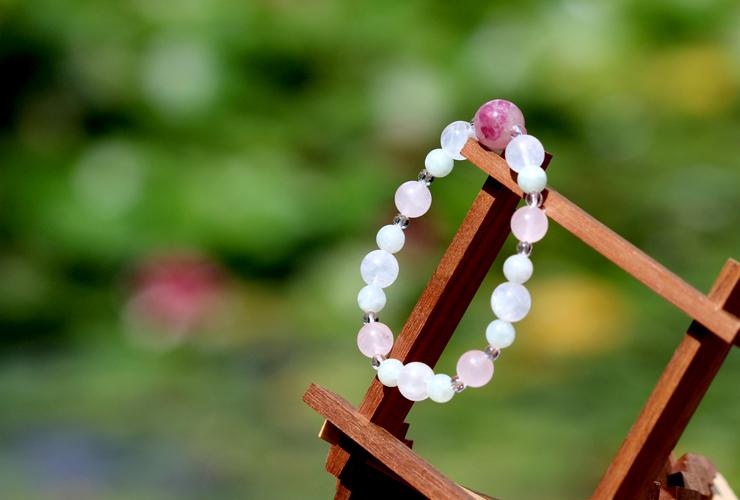 「玉」高品質ピンクトルマリンシリカブレスレットのイメージ画像7