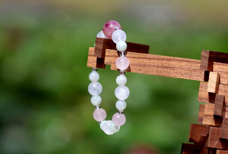 「玉」高品質ピンクトルマリンシリカブレスレットのイメージ画像8