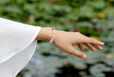 「玉」高品質ピンクトルマリンシリカブレスレットのイメージ画像9