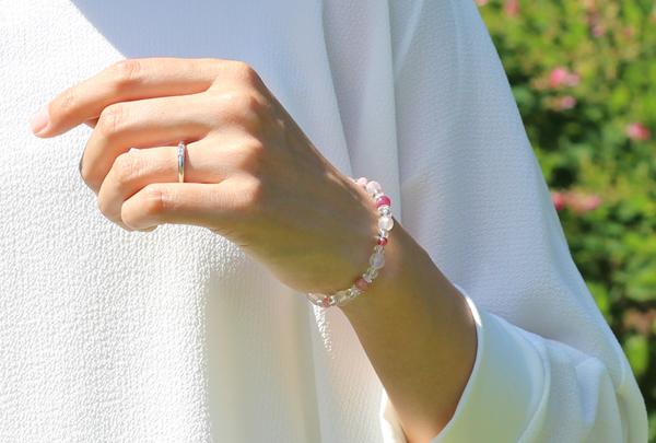 「愛の灯」高品質ピンクトルマリンブレスレット(お客様謝恩~ピンクトルマリン~)のイメージ画像9