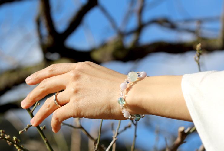 「風花」高品質雪メノウブレスレットのイメージ画像6