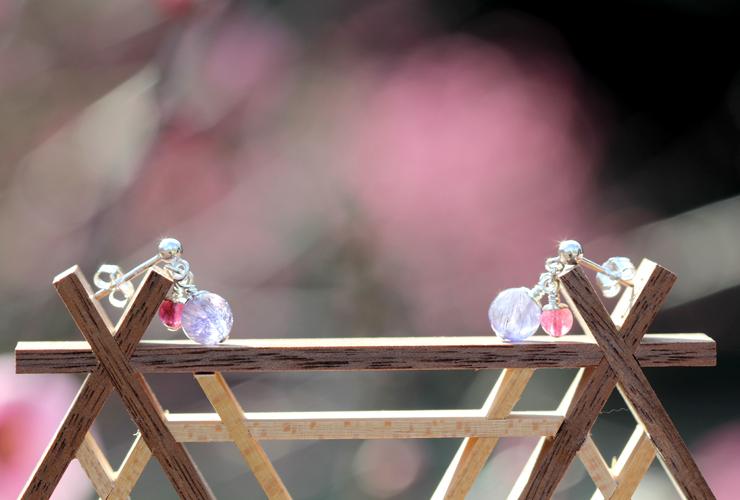 「夜明け」高品質タンザナイト・ピンクトルマリンピアス&イヤリングのイメージ画像5