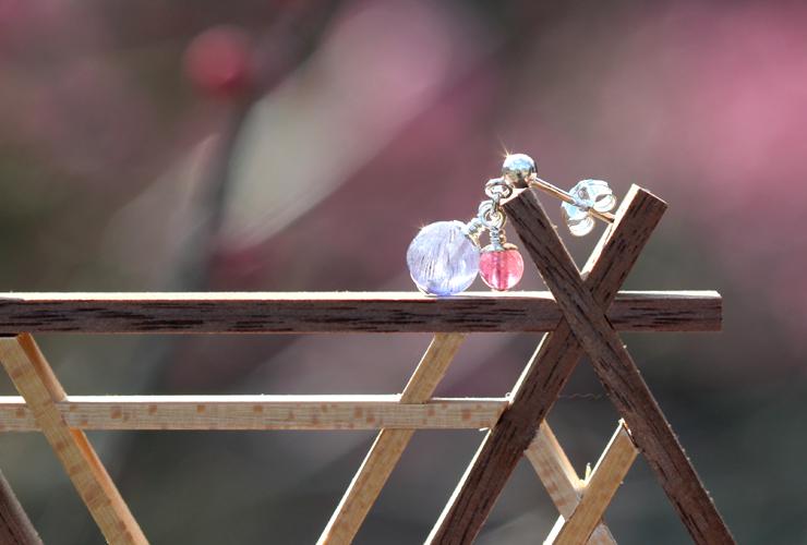 「夜明け」高品質タンザナイト・ピンクトルマリンピアス&イヤリングのイメージ画像7