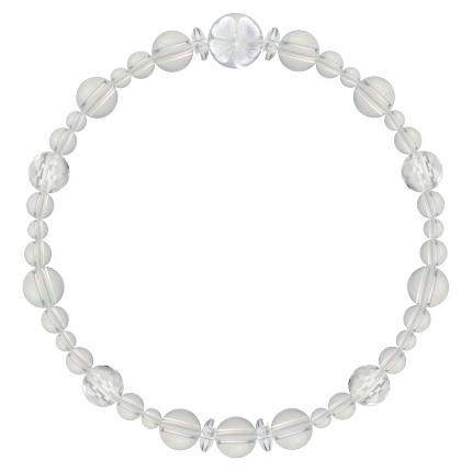 白露色 | 水晶・クォーツ 花かずら(6mm)ブレスレット