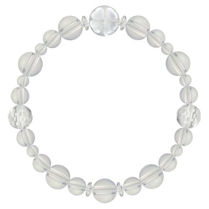 白露色 | 水晶・クォーツ 花かずら(8mm)ブレスレット