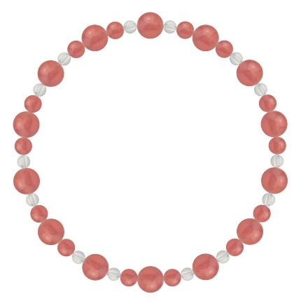 薔薇色 | インカローズ・水晶(クォーツ) 鳳凰(6mm)ブレスレット