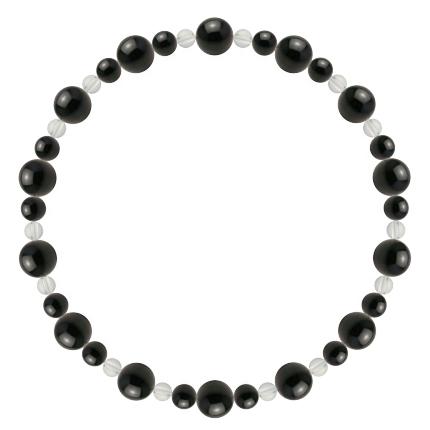 黒色 | オニキス・水晶(クォーツ) 鳳凰(6mm)ブレスレット