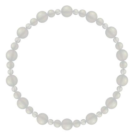卯の花色 | ホワイトオニキス・水晶(クォーツ) 鳳凰(6mm)ブレスレット