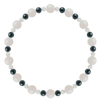 才能と魅力を引き出す | ホワイトオパール・クリソコラ・水晶(クォーツ) 鳳凰(6mm)ブレスレット