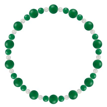 緑色 | グリーンメノウ・水晶(クォーツ) 鳳凰(6mm)ブレスレット